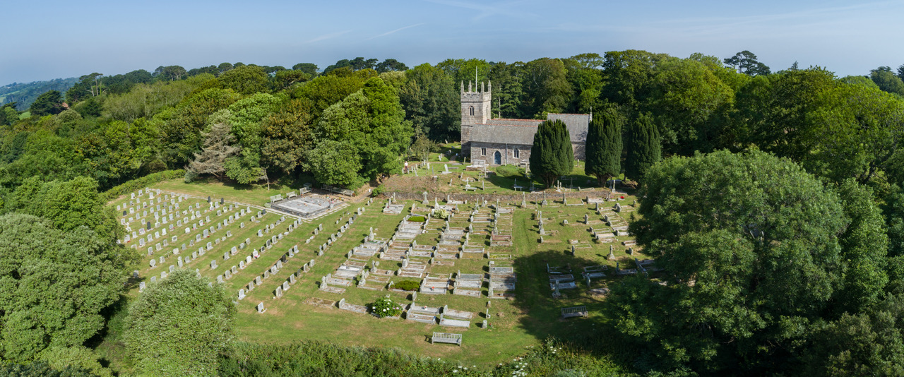 Churchyard from the air